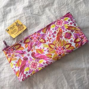 🕊NWT Blue Q Bags Pink Floral Small Make-Up Bag 🌺